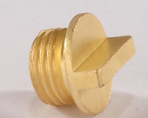 Brass Round Plug
