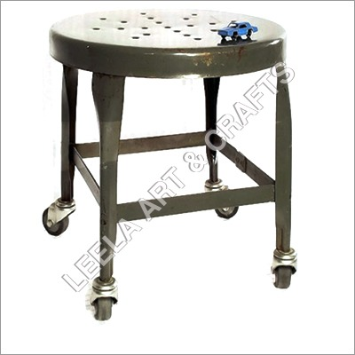 Modern Vintage stool with wheels
