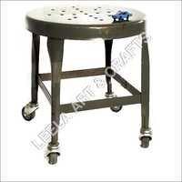 Modern Vintage stool with wheels