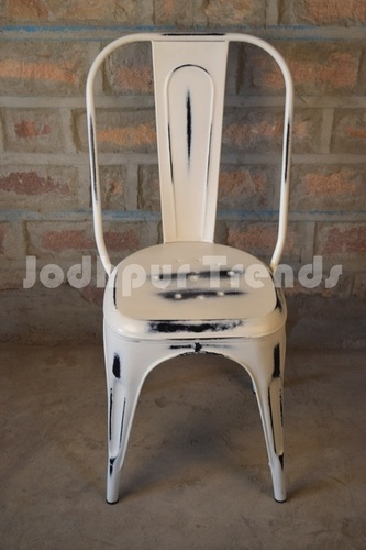 Iron Distress finish Chair , Industrial Furniture manufacturers india