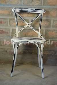 Iron Cross Patti Chair Distress Finish , Industrial style Furniture wholesale