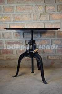 Industrial Crank Table ,Industrial Furniture round table