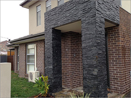 Black Slatestone Wall Panel