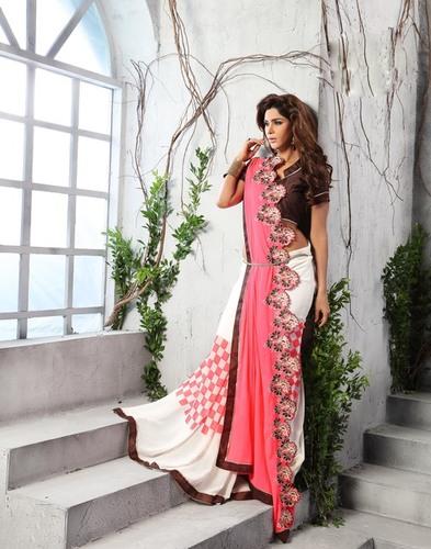 Elegant Fancy Embroidered Saree