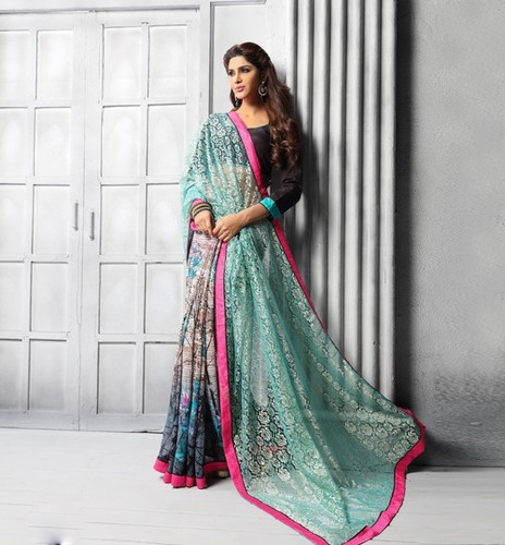 Multicolor Stylish Saree