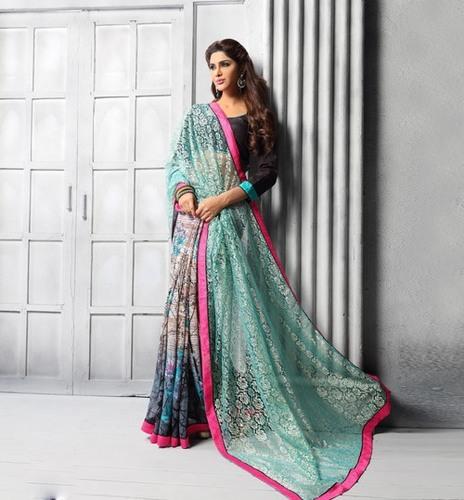 Multicolor Stylish Saree