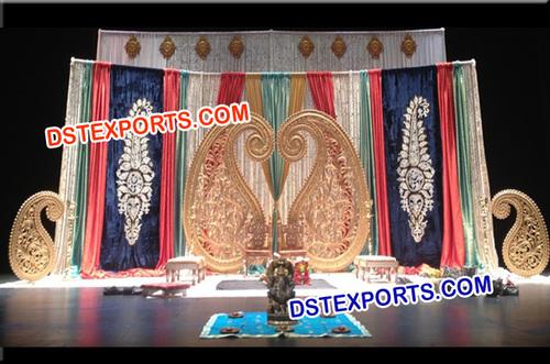 Indian Wedding Backdrop Stage Decoration