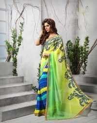 Georgette Multicolor Saree