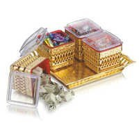 Ellora 4 Silver/Gold Air Tight Container Set with