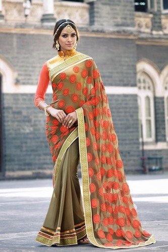 Stylish Half & Half Saree
