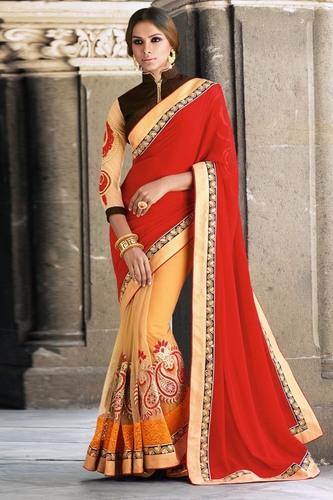 Designer Heavy Embroidered Saree