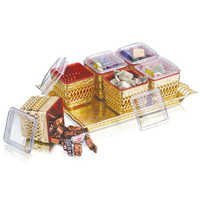 Ellora 6 Silver/Gold Air Tight Container Set with