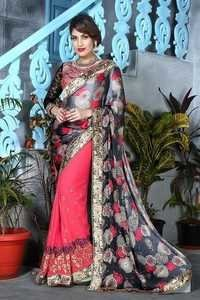 Designer Embroidered Embellished Saree