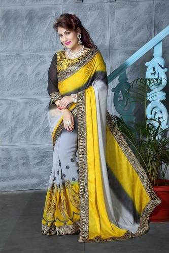 Designer Shaded Saree