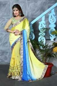 Stylish Double Shaded Saree