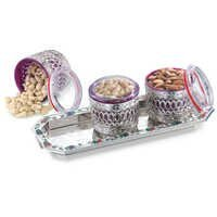 Jewel 3 Air Tight Container Set with Tray
