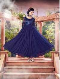 Royal Blue Anarkali Gown