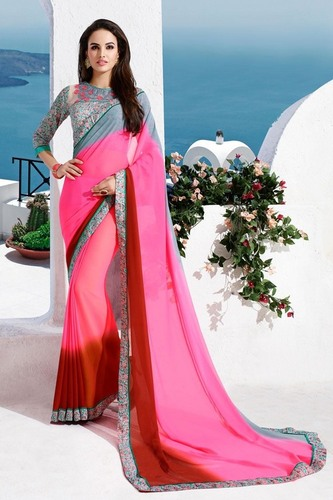 Pink Shaded Saree