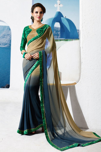 Trendy Multicolor Printed Saree
