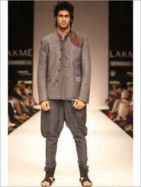 Grey Jodhpuri Blazer With Breeches
