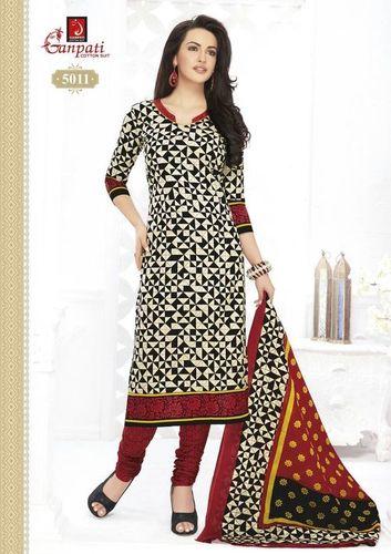 Ganpathi Cotton Printed Dress Material