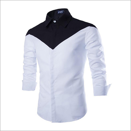Black N White Full Sleeves Casual Shirt