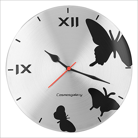 Butterfly Steel Wall Clock