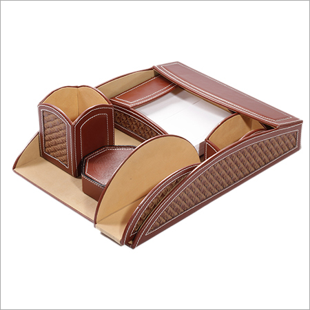 5 in 1 Leather Desktop Organizer