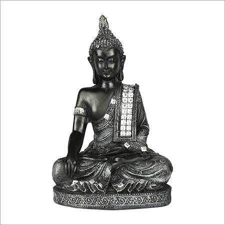 Grey Meditating Buddha Statue