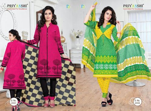 Priyanshi Cotton Printed Dress Material