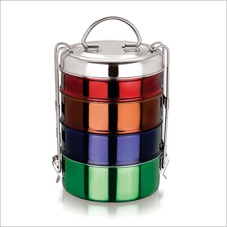 Royal S. S. Multi Color Tiffin Set