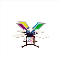Manual 4 Color 4 Station T-Shirt Screen Printing Machine
