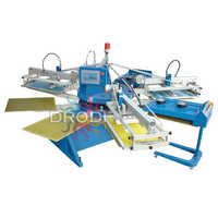 Automatic 8 Color 12 Station T Shirt Screen Printing Machine