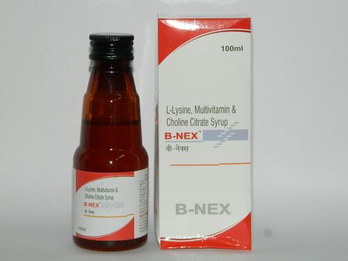 L-Lysine,Multivitamin & Choline Citrate Syrup