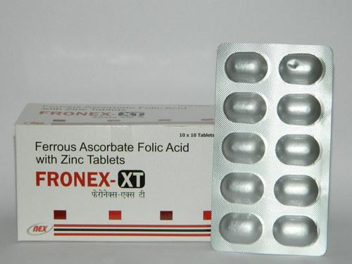 Ferrous ascorbate Folic Acid with Zinc Tablets