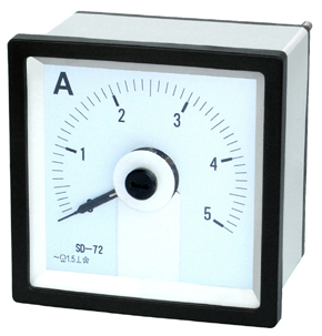 240°Moving Instrument DC Ammeter