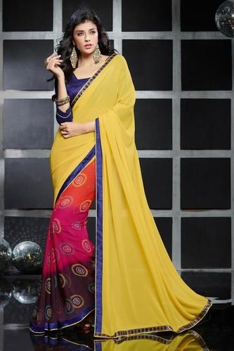 Ladies Bandhani Print Saree