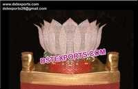 Crystal Lotus Palki for Bride Entry
