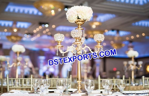 Five Arm Crystal Centerpiece