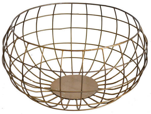 Basket with Gold Finish