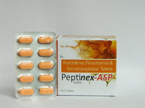 Aceclofenac,paracetamol & Serratiopeptidase Tablet
