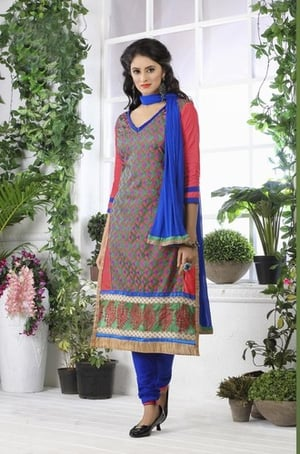Stylish Embroidered Salwar Suit