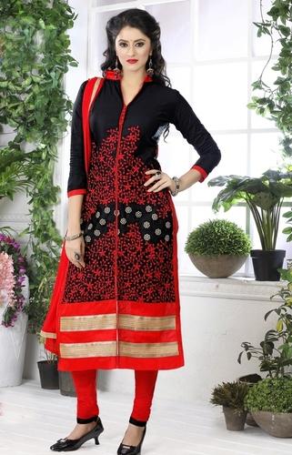 Designer Black Dress Material