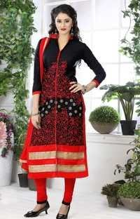 Designer Black Dress Material