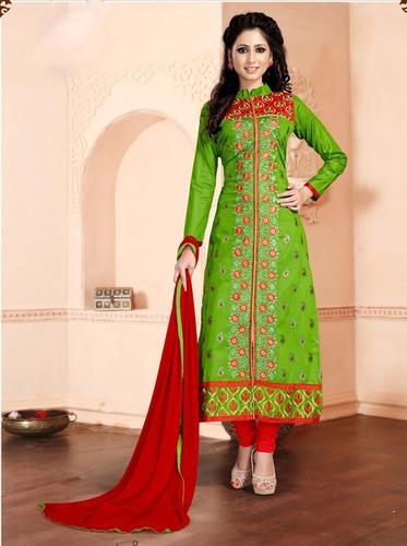 Long Chudidar Dress Material