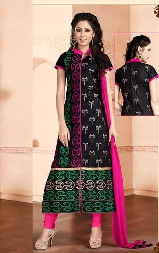 Designer Black Cotton Dress