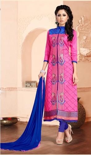 Elegant Pink Embroidered Dress