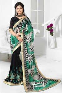 Designer Stylish Embroidered Saree