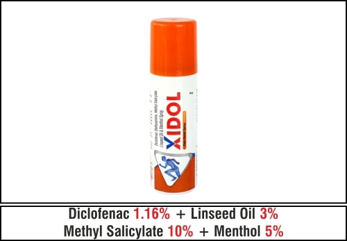 Diclofenac Diethylamine Methyl Salicylate Linseed Oil & Menthol Spray