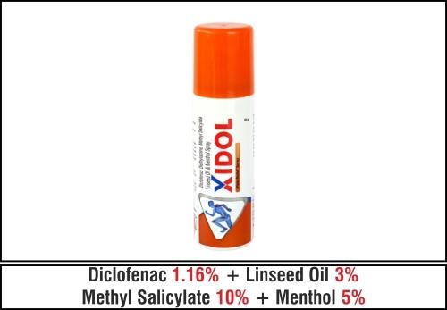 Diclofenac Diethylamine Methyl Salicylate Linseed Oil & Menthol Spray